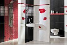 Kolekcje łazienki / Wnętrza wykonane płytkami z naszych kolekcji.