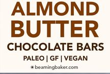 Almond butter chocolate bars