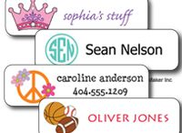 #Kids Labels & Stickers  / Labels for kids clothing and gear, plus how-to videos for how to apply labels. Fabric Labels for clothing, and Waterproof Sticker Labels for school supplies, food containers, and sports/dance gear.