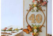 Kartki na 30, 40 urodziny + ilustracje digi życzenia