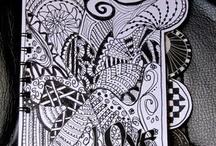 zintangle, doodling :)