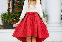 OUTFITS || Festive for Christmas and NYE / Festive Outfit Ideas for the holiday season, Christmas Outfits, New Years Eve Outfits, Chic Outfits, Sequins, velvet, dresses, skirts, Christmas jumpers