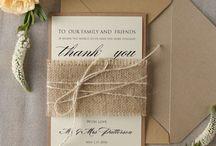 Faire part et Remerciement mariage G et M