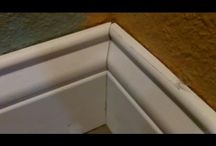 installation of baseboards