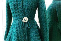 пальто - вязание