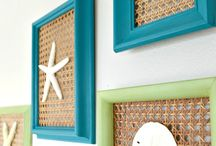 decoracion estilo playa mar.seashell wall art