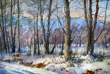 Painting: winter scenes