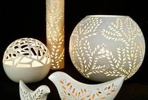 portacandele ceramica