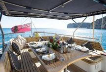 Luxury Yacht Charter Infatuation Jongret Ketch / Infatuation, built in 2004 by Jongert, and refitted in 2015, is a marvellous 41M #sailing #luxury #yacht which welcomes up to 8 guests on board with a crew of 5, She is available for charter around the Balearics.