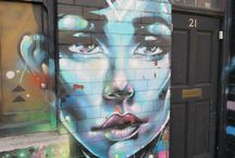 Street Art Birmingham and the World / City of Colours Festival Digbeth Birmingham U.K. September 6, 2014 and more