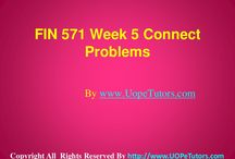 FIN 571 Week 5 Connect Problems