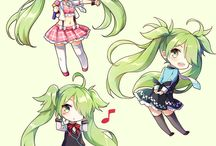Green Haired Anime / Green like grass or something..