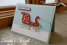 Santa sleigh card ideas