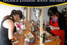 Seminario Técnica Esmalte sobre Metal / Seminario Técnica de Esmalte sobre Metal realizado en la ciudad de Punta Arenas Chile, Joyería Wohlenberg.