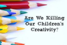 Learing | Creativity / We often hold back from giving creative projects to our kids - but they need time to make mess, make art, do things in ways they have never done before.  Encourage creativity in your kids!
