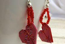 i miei gioielli con la carta / gioielli realizzati a mano con la carta. Orecchini, collane e spille origami handmade. Idee per regali originali