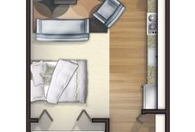one room apartment plans