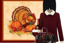 Thanksgiving / Thanksgiving decor, outfits and food.
