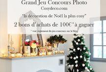 Concours Photo Cosy Déco / Tentez de Gagner un Bon d'achat de 100€ en nous envoyant vos photos de Décoration de Noël : info@cosydeco.com L'album Photo du concours est ici : https://www.facebook.com/media/set/?set=a.10151809858572081.1073741870.213310212080&type=1&l=0d4b1c3bd6 Tout le Règlement du jeu ici : http://www.cosydeco