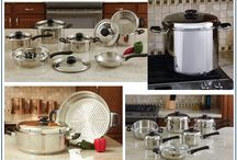 Ocean Tailer Cookware Sets / Eat  nutritious food to keep fit and healthy Cook food for your family in these stainless cookware sets and keep your family hydrated with clean fresh water   All these elegant kitchen wares and more available at www. oceantailer.com  #cooking #health #healthandnutrition