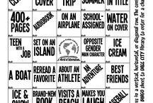 Book BINGO / Book BINGO sheets created for Dale City Neighborhood Library (Prince William Public Library System, VA). / by Andréa Fernandes