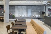 COLLABORATION Spaces / Office space design, collaborative workspaces, small group seating options