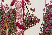 art _ vintage book and fashion illustration