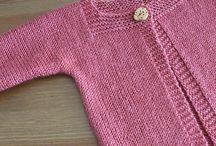 blusas em tricô infantil
