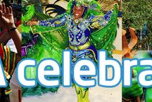 "¡A celebrar! / During the month of March many countries celebrate ""Carnaval"" or carnival, a festive season, which typically lasts a few days and involves a cultural celebration or parade, combining many cultural elements, including masks, costumes, dancing and floats.   Let's celebrate ""Carnaval""!"