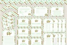 Baby Shower COMPLETE packages / Baby shower digital printables - FULL PACKS