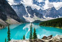 Lac Moraine, Parc national de Banff Canada paysages Amérique Nord / Lac Moraine, Parc national de Banff Canada paysages Amérique Nord
