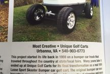 Custom Golf Cart Contest / Guess it's pretty neat when your labor of love in what your doing is noticed by others. I recently entered the bumper car in the Golf Car News magazine's annual Custom Golf Car Contest. Well we didn't win best of show but we did get Most Creative. Neat stuff.