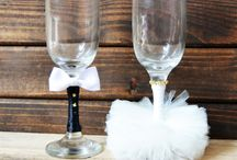 Wedding Glass For Bride And Groom Diy