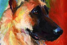 Paintings dogs