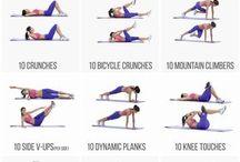 cvičení na střed těla