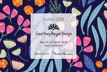Surtex and Blueprint Tradeshows 2018 / Designs and Designers at Surtex and Blueprint Tradeshows. Textile design. Surface design.