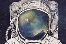 космос эскиз