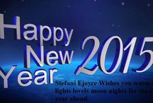 Happy New Year 2015 / Stef Wishes you warm sun lights lovely moon nights for the coming year ahead!