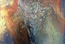 Evanescenze / Solventi e colori metallici su legno