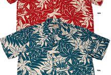 Matching family Hawaiian print outfits