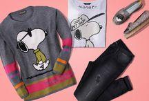 """Snoopy by Princess goes Hollywood / Der bekannteste Beagle der Welt: """"Snoopy"""" gehört bei PRINCESS GOES HOLLYWOOD zu den absoluten Lieblingen! Die Comicfigur findet sich auf trendigen T-Shirts, Sweatern, Pullovern und Loungewear – jede Saison mit neuen Motiven.  ► http://bit.ly/KONEN-Snoopy-Princess-Pinterest"""