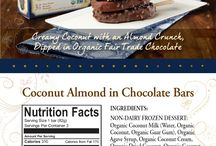 Coconut Almond in Chocolate / Creamy Coconut with an Almond Crunch, Dipped in Organic Fair Trade Chocolate
