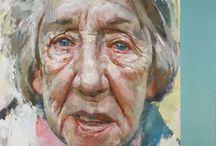Old lady portrait / Oil