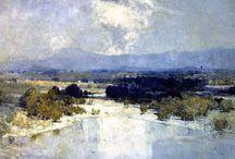 Landscape paintings - various artists