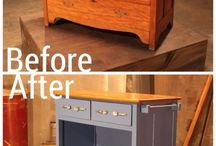 Gjennbruk/oppussing av møbler