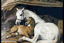 Horses cross stitch / Horses in cross stitch kits, patterns or charts / by Yiota's cross stitch