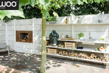 Customize WWOO / The WWOO outdoor kitchen can be completely customized, according to the size of your garden and your budget. The standard color is light gray, for an additional charge of 15% it's possible to choose the anthracite color.