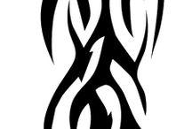 Tribale arm tatoeages / tatouages