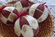 patchwork karácsonyfa díszek