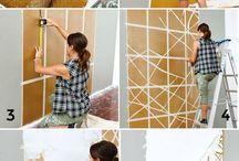 Pintura criativa de parede